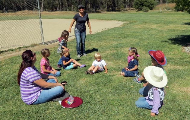 <p>Parents lead games of duck-duck-goose with Orcutt Academy Independent Study program kindergartners and their siblings during a recent outing at Santa Maria&#8217;s Pioneer Park.</p>