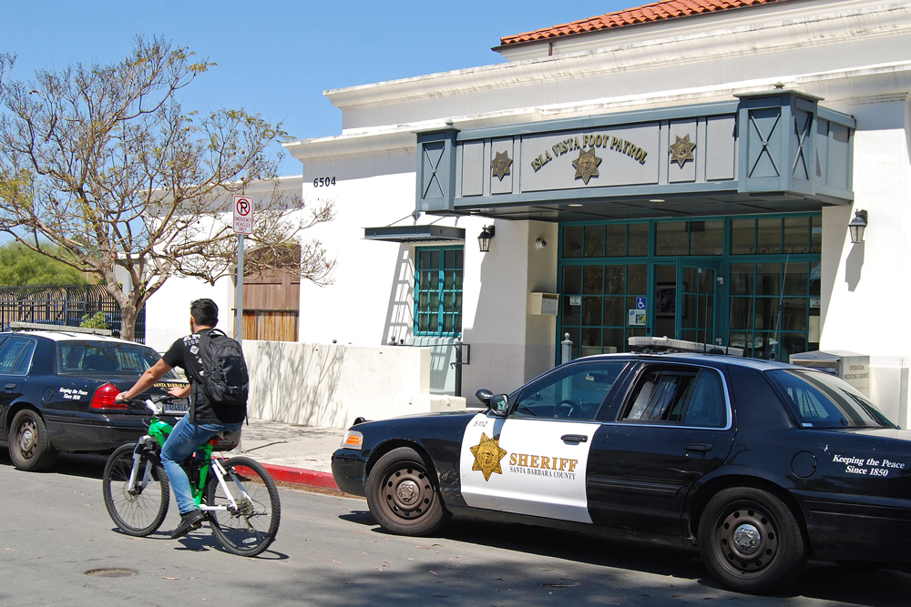 The Santa Barbara County Sheriff's Department's Isla Vista Foot Patrol, whose station is at 6504 Trigo Road, is on the front lines against sexual assault in the student-heavy community adjacent to UC Santa Barbara. In addition to investigating incidents, the law-enforcement agency works with community groups and the Santa Barbara Rape Crisis Center on awareness, prevention and survivor support.