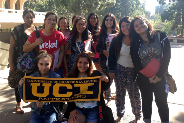 Local teens from Girls Inc. of Carpinteria's Eureka! program spent their spring break touring college campuses, including UC Irvine, as part of the Eureka! College Road Trip.