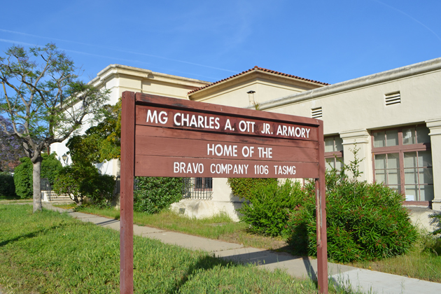The Santa Barbara Unified School District hopes to buy the National Guard's Santa Barbara Armory land at 700 E. Canon Perdido St. since legislation recently allowed the property to be sold.