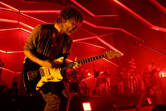 Thom Yorke and Atoms for Peace transformed Yorke's solo album The Eraser from the brooding stepchild of Brian Eno's Another Green World into Post-Post-Rock Dance Party 2020 during their show Saturday night at the Santa Barbara Bowl