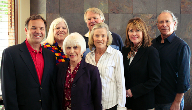 <p>The Rona Barrett Foundation is pleased to announce its 2014 Board of Directors. Pictured are, from left back row, Tony Morris, Annalisa Nearn, Fred Rice, Tresha Sell and Steven Reden, and front row, Rona Barrett and Susan Weber. The Rona Barrett Foundation board is composed of individuals with a passion for seniors based on personal experience with aging loved ones.</p>