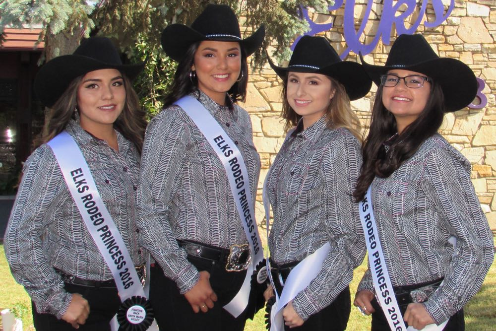 The Santa Maria Elks Rodeo Queen Kick-off Dinner on Saturday night introduced the 2016 candidates. From left, Cassandra Cadena, Angela Avila-Magallon, Melissa Saucedo and Ashley Singh are vying for the crown.