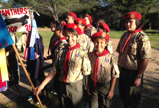 Members of Boy Scout Troop 26 participate in last Saturday's South Coast District Camporee at Rancho Alegre.
