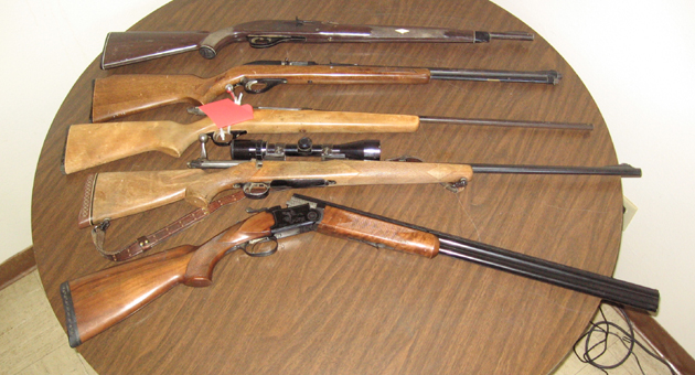 <p>Santa Barbara County sheriff&#8217;s deputies recovered two shotguns and three rifles from a Cuyama-area man facing charges of being a felon in possession of firearms.</p>