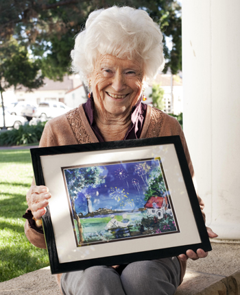 Art classes through the Braille Institute have given Joan La Greca a new lease on life.