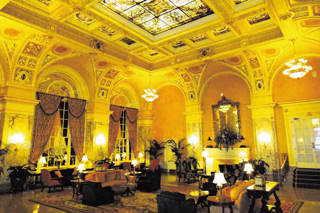 The lobby of The Hermitage Hotel, which opened in 1910.