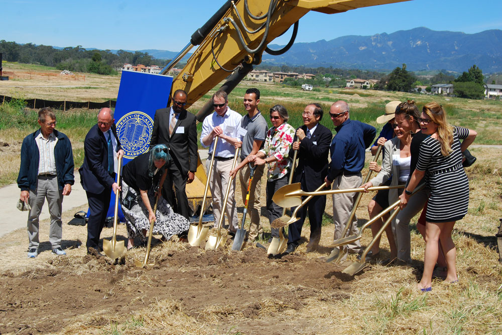 Ground was broken Wednesday for a major project to restore the estuarine conditions that had once existed on the site of the former Ocean Meadows Golf Course on UCSB's North Campus.