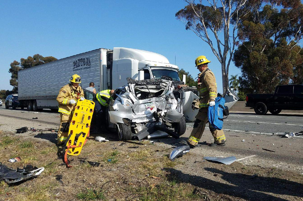 Injuries Reported in Goleta Crash Involving Big-Rig, 3 Other