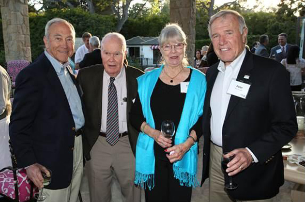 <p>From left, Dennis Forster, The Honorable William Gordon, Carol Gordon and Peter MacDougall gathered last Wednesday to celebrate the generous donations of United Way of Santa Barbara County's Leadership Circle and Alexis de Tocqueville Society members. William Gordon received the Outstanding Volunteer of Time, Talent &amp; Treasure for Individual Leadership Giving Award.</p>