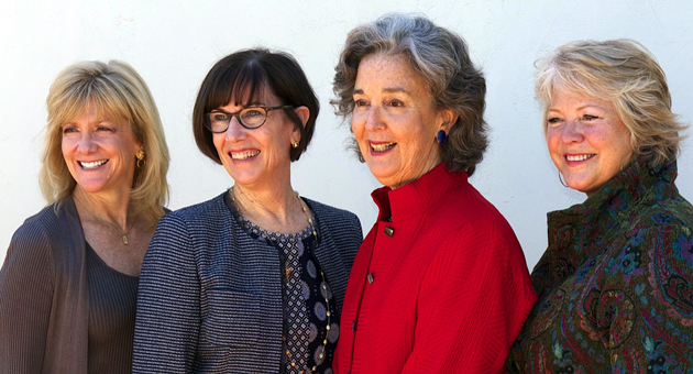 From left, Melissa Gough, Nancy Harter, Sallie Coughlin and Sarah Stokes at the Women's Fund's 10th annual Presentation of Funds Luncheon on Monday. Gough and Stokes chaired the luncheon, and Harter and Coughlin will co-chair the organization for 2014. (Peter de Tagyos photo)