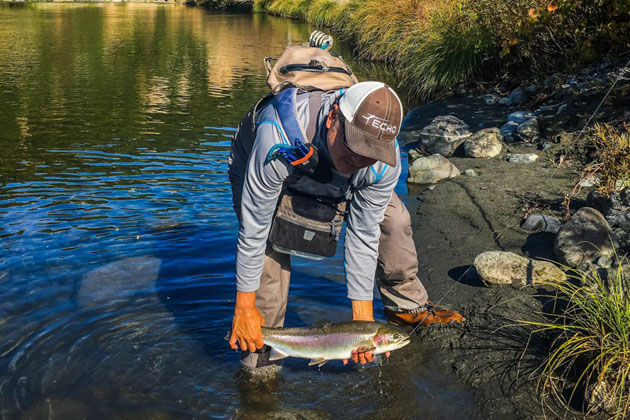 Fishing for steelhead trout.