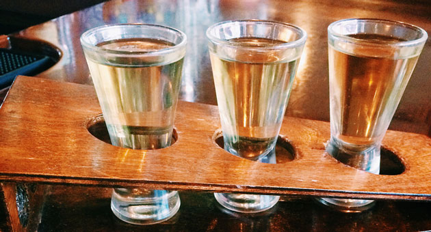 Tasting flights of tequila are a specialty at Paloma Restaurant in Goleta.