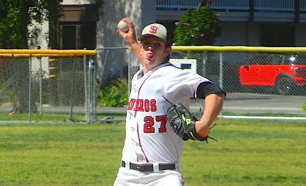 Davis Messer allowed only five hits in SBCC's 11-0 win over Hancock.