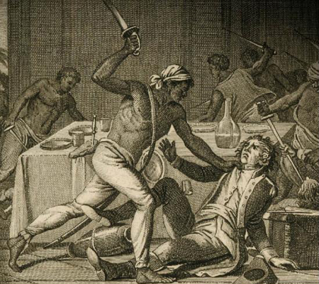 <p>The illustration to Gerald Horne&#8217;s book, <em>The Counter Revolution of 1776: Slave Resistance and the Origins of the United States of America.</em></p>