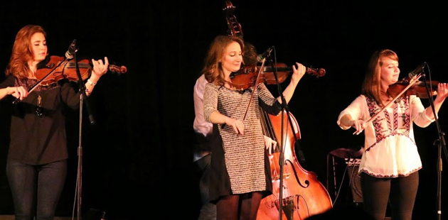 Sisters Grace, Sophia and Hulda Quebe brought their unique brand of music to the Plaza Playhouse Theater in Carpinteria last Thursday night.
