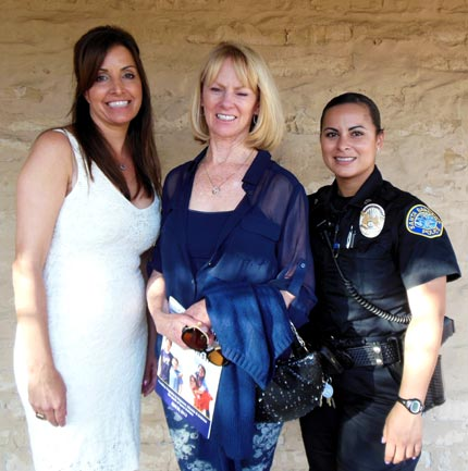 PAL Executive Director Laurie Parker, left, Susan Parker of the Hutton Parker Foundation and Santa Barbara police officer Christina Marshall.