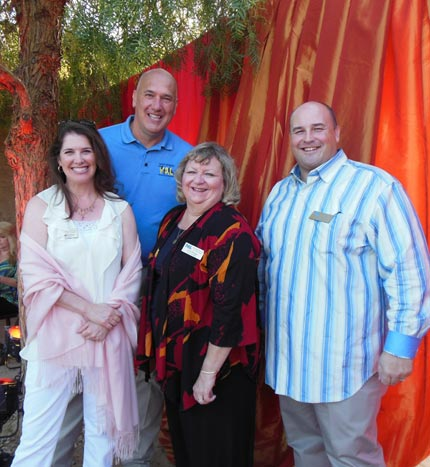PAL board members Caroline Grange, from left, officer Ken Wojciechoski, Debi Badger and President Doug Dreier.