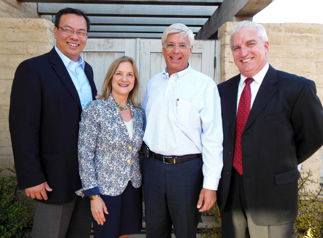 Michael Dao, left, Adelle Demko, George Leis and David Hall represent sponsor Union Bank.
