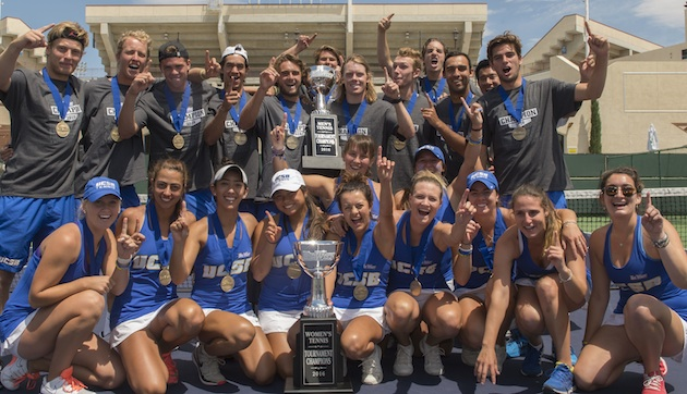 The UCSB men's and women's tennis teams captured Big West titles on Saturday at Indian Wells. It's the first time since 2010 that the same school won both titles.