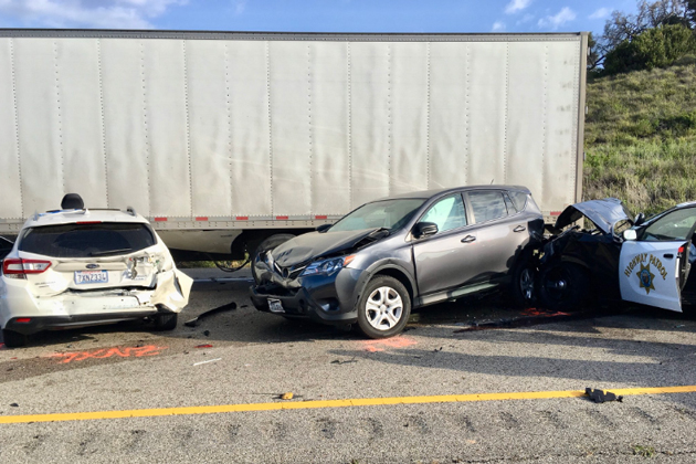 People Injured in Vehicle Collision During Police Pursuit
