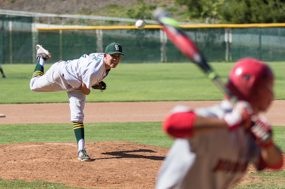 Santa Barbara's Bijan Palme allowed Burroughs only one hit in the fourth inning.