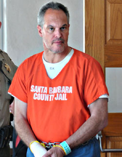 Steven Kunes appears in Santa Barbara County Superior Court on Wednesday.