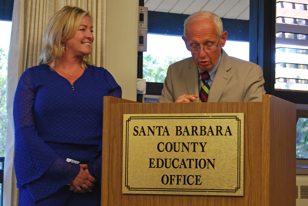 Santa Barbara County Superintendent of Schools Bill Cirone announced Thursday that Jennifer Cline is the 2018 Santa Barbara County Teacher of the Year.