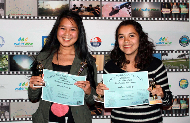 <p>Pioneer Valley High School students celebrate their first-place win in the WaterWise High School Video Contest for their video &#8220;Water Wise Ways.&#8221;</p>
