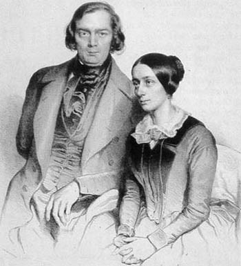 Robert and Clara Schumann — their marriage was happy and harmonious.