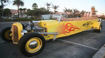 A and J Limousine's Hot Rod Limo, a stretched version of a 1927 Ford Model T, has seating for eight and offers daily tours. (A and J Limousine photo)