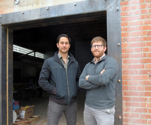 Wine connoisseurs Brian McClintic, left, and Eric Railsback will open Caveau Wine Bar & Merchants at 131 Anacapa St., Suite B in mid- to late June. (Gina Potthoff / Noozhawk photo)