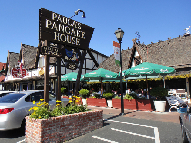 Paula's Pancake House, a popular local hangout in Solvang.