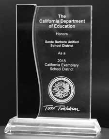 California Exemplary District Award