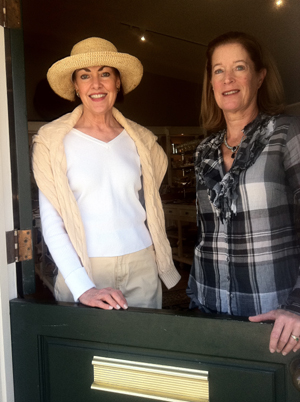 Co-owners Nancy Kimsey and Cindy Sapienza inside their new store.