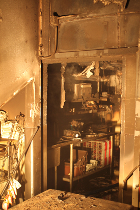 A fire early Friday began in the kitchen area of Jill's Place restaurant in Santa Barbara. (Urban Hikers photo)
