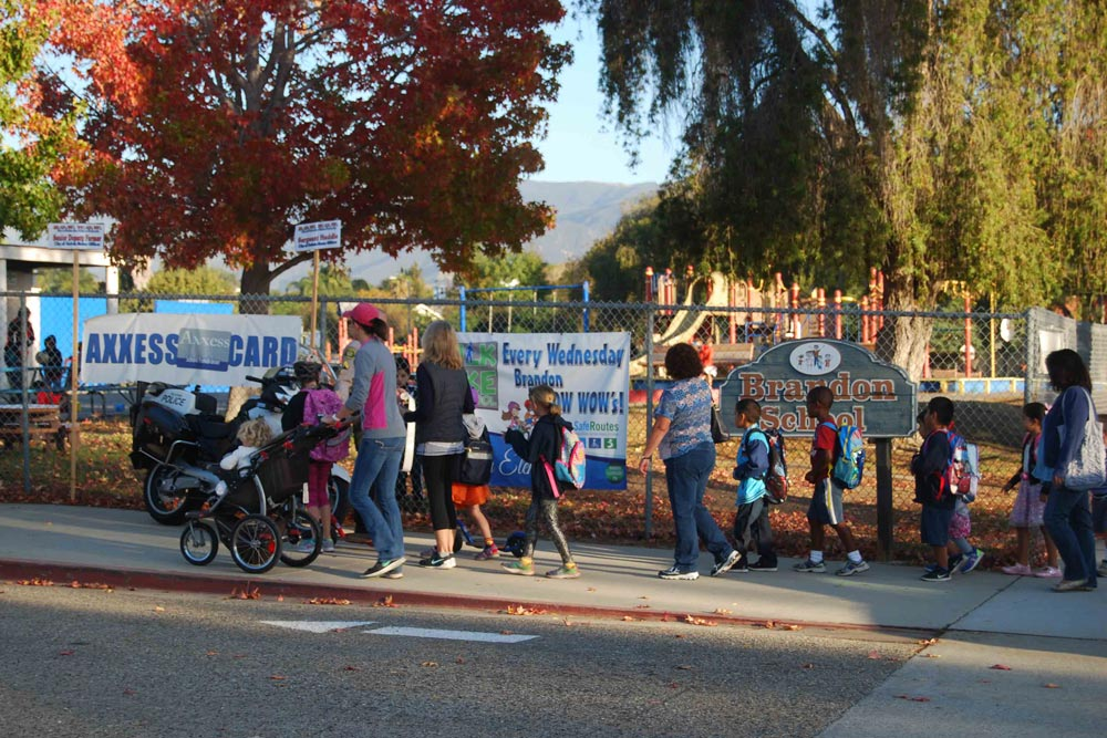 Local students take part in Walk to School Day