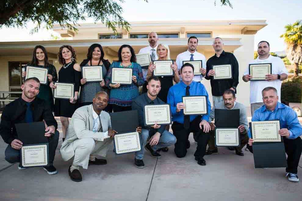 Graduates of the Santa Barbara Rescue Mission's 12-month residential drug and alcohol treatment program were honored with a commencement ceremony Saturday at a packed Santa Barbara Community Church.