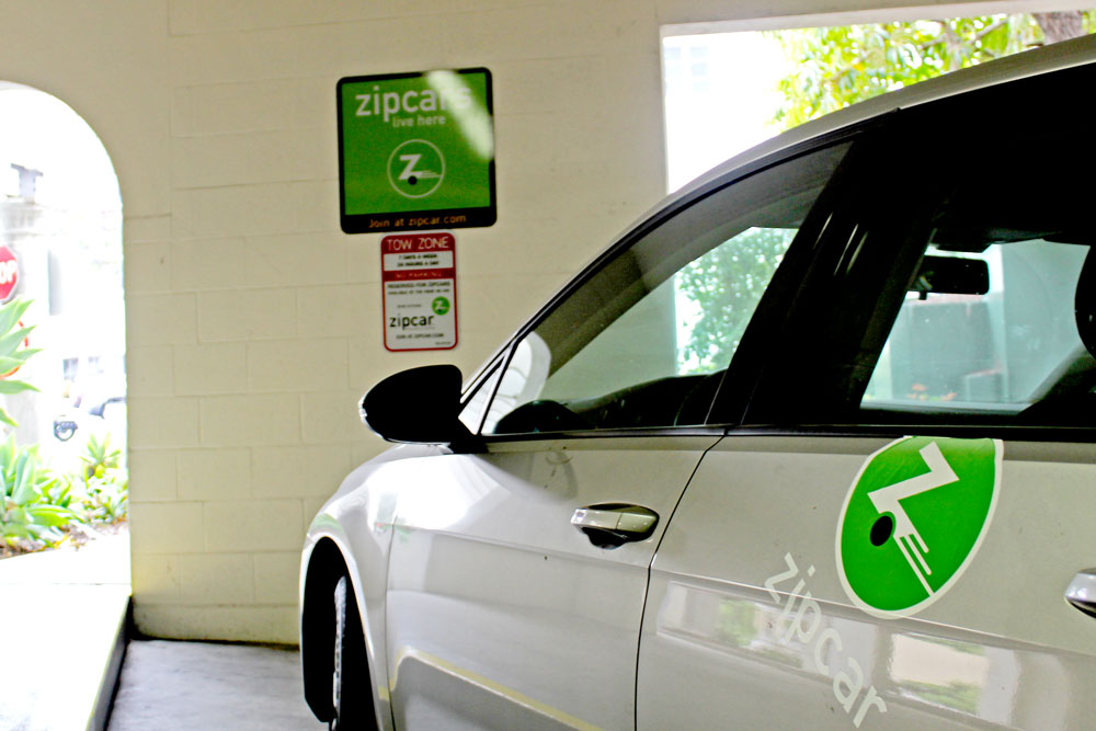 ten vehicles are available in santa barbara now that car sharing company zipcar has made