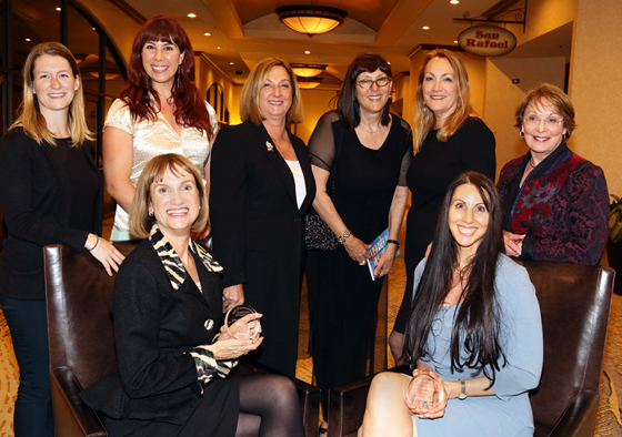 <p>Winners of the 2014 Spirit of Entrepreneurship Awards: seated from left, Calla Gold of Calla Gold Jewelry and Kymberlee Weil of Professional Services; standing from left, Lacey Grevious of The Refillery, Amy Chalker of Isabella Gourmet Foods, Marianne Partridge of the Santa Barbara Independent, Lynda Weinman of lynda.com and emcee for the awards, Suzanne McNeely of Senior Planning Services and Michele Hinnrichs of Gas ImagingTechonologies. Not shown: Kathy Jacobs of Fiddlehead Cellars, Anita Chambers of Odulair LLC and Betty Hatch of SelfEsteem.org.</p>