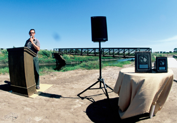 """Michael Feeney, executive director of the Land Trust for Santa Barbara County, hailed the Carpinteria Salt Marsh's new look. """"At one point it looked like some place no one really cared about,"""