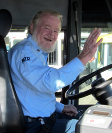 Santa Barbara MTD's Clarence Suhr holds a 33-year safe driving record. (MTD photo)