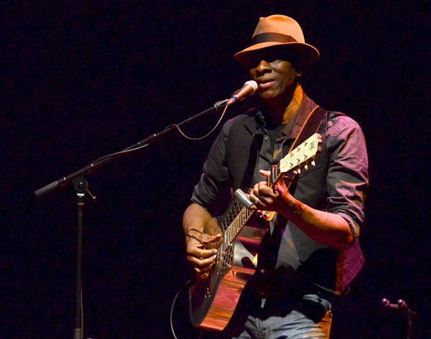 <p>Legendary bluesman and three-time Grammy winner Keb&#8217; Mo&#8217; returned to the Lobero Theatre on Tuesday to a sold-out house, with the release of his new album, <em>BLUESAmericana</em>. &#8220;I only make albums when I&#8217;m inspired to, and these 10 songs come from a very honest place,&#8221; Keb&#8217; Mo&#8217; said. &#8220;<em>BLUESAmericana</em> is the beginning of the next phase of who I am.&#8221; The disc will be accompanied by Keb&#8217; Mo&#8217;s most extensive tour in years. With his bluesy way and storytelling style of singing, Keb&#8217; Mo&#8217; captivated the audience and treated Santa Barbara to a wonderful evening.</p>