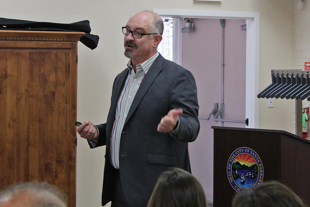 Chuck Flacks, executive director of the Central Coast Collaborative on Homelessness, cited lack of housing as a primary driver of homelessness, and more housing as a major part of the solution.