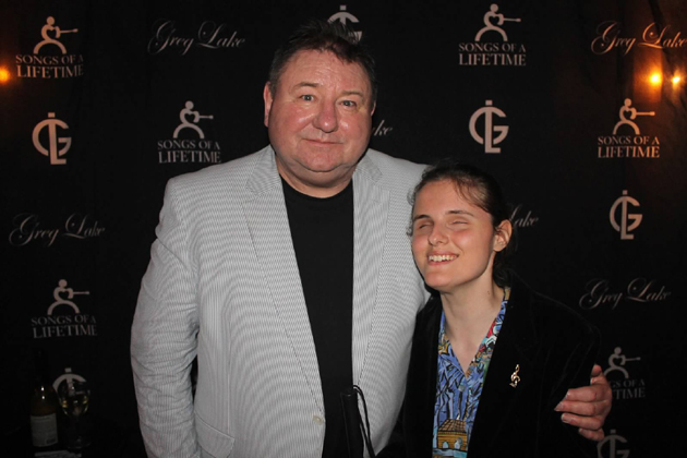 Greg Lake meets up after the show with Oxnard keyboard prodigy Rachel Flowers, whose solo performances of Emerson, Lake & Palmer's songs are truly amazing.