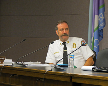 Former fire chief Michael Mingee retired at the end of July.