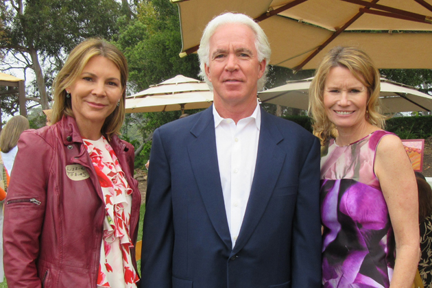 Dream Foundation Advisory Committee member Lizzie Tobias, left, board president Kenny Slaught and Dream Foundation CEO Kisa Heyer at the Dream Foundation's sixth annual Flower Empower Luncheon held Thursday at the Bates Ranch House overlooking Rincon Point near Carpinteria.