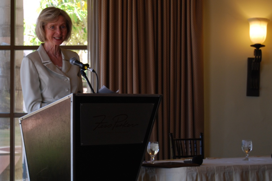 "Former Rep. Lois Capps, D-Santa Barbara, was presented with a Lifetime Achievement award Saturday by the UC Santa Barbara Alumni Association. ""I'm grateful because I love UCSB, and the school has played a huge role in my life and family's life,"" she said in accepting the award."