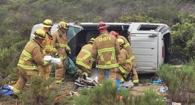 <p>One person suffered moderate injuries Wednesday in a rollover accident on Burton Mesa Boulevard near Lompoc.</p>