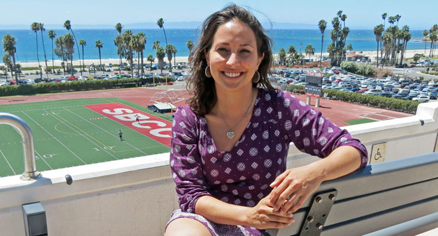 <p>Kristen Webb, who overcame breast cancer and other family illnesses, will speak Friday during graduation ceremonies at Santa Barbara City College.</p>